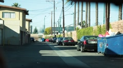 POV from Inside a police patrol car patrolling streets Stock Footage