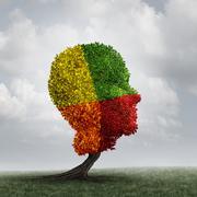 Human Mood Psychology Change - stock illustration