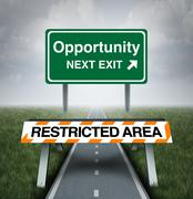 Restricted Opportunity Stock Illustration