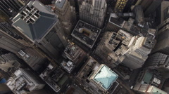 Looking down on Financial District in New York City. Shot in 2011. Stock Footage