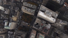 Flying toward Financial District, looking down on WTC area. Shot in 2011. Stock Footage