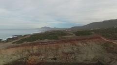 AERIAL: Beautiful Coastal Landscape Baja Stock Footage