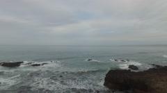 AERIAL: Ocean Cliffs Baja, Mexico - stock footage