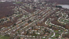 Residential area southwest of Hartford, Connecticut. Shot in November 2011. Stock Footage