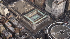 Madison Square Garden with US Post Office across the street. Shot in 2011. Stock Footage