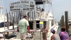After the fishing trip Stock Footage