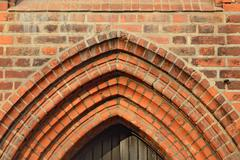 Cathedral of Koenigsberg. Fragment of Gothic architecture of the 14th century - stock photo