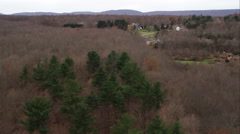 Rural residential area north of New Haven, Connecticut. Shot in November 2011. Stock Footage