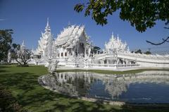 Wat Rong Khun or White temple - stock photo
