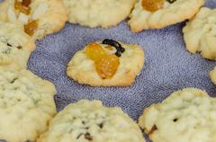 Homemade Fruitcake Cookies - stock photo