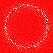 Red circle of stars Stock Illustration