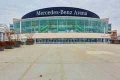 The Mercedes Benz Arena in Berlin is a multipurpose arena Stock Photos