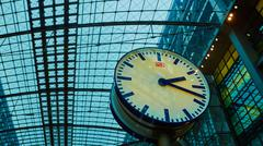 The main railway station in Berlin - stock photo