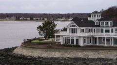 House on Point Lookout in Milford, Connecticut. Shot in November 2011. Stock Footage