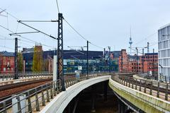 Railway in Berlin, Germany Stock Photos