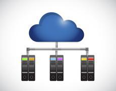 Cloud computing and diagram illustration Piirros