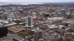 Aerial view of Stamford, CT. Shot in 2011. Stock Footage