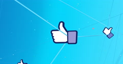 Growing net of likes - stock footage