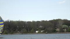 Annapolis Maryland Naval Academy Sailing Sailboats HD Arkistovideo