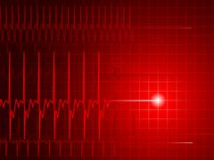 Red heart monitor - stock illustration