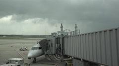 Dulles International AIrport pilot pre flight aircraft HD Stock Footage