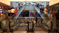 Ascending and Descending Walkways/Travelators in one shot - stock footage