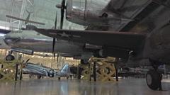 Washington DC Air and Space Enola Gay bomber HD Stock Footage