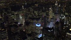 Distant orbit of Times Square at night. Shot in November 2011. Stock Footage