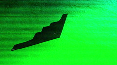 A stealth bomber nightvision 2 4 Stock Footage