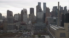 Flying past Midtown Manhattan. Shot in November 2011. Stock Footage