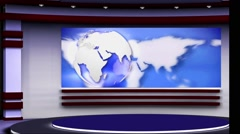 Stock Video Footage of News TV Studio Set 108 - Virtual Green Screen Background Loop