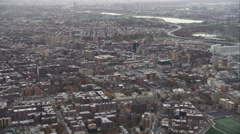 Flying over Flushing in Queens, New York City. Shot in November 2011. - stock footage