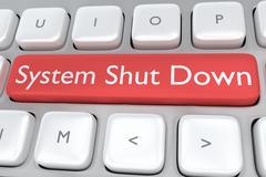 System Shut Down concept - stock illustration