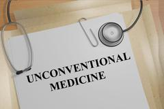 Unconventional Medicine concept Stock Illustration