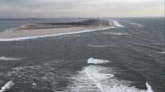 Flying above Robert Moses State Park on Long Island, New York. Shot in November Stock Footage