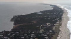 Flying over Fire Island Pines, New York. Shot in November 2011. Stock Footage
