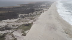 Flying above Fire Island Dunes east of Robinson Cove, New York. Shot in November Stock Footage