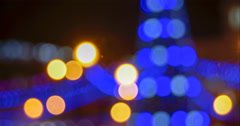 Christmas Night bokeh blurred image for the background  - stock footage