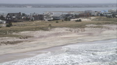 Fire Island east of Pikes Beach, New York. Shot in November 2011. Stock Footage