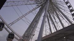 Niagara Skywheel Niagara Falls, Canada Stock Footage