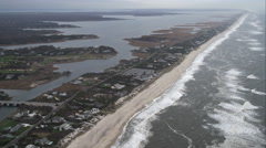 Leaving East Quogue, Long Island, New York. Shot in November 2011. - stock footage