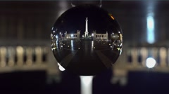 Heroes square through a nikon ball - stock footage
