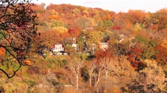 Washington D.C. Homes in Fall - stock footage