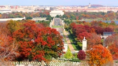 Cemetery and Lincoln Memorial Bridge Stock Footage