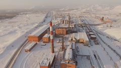 Aerial view of the old factory. Stock Footage