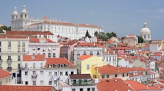 Old district of Lisbon in a summer day Stock Footage