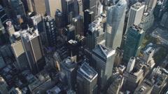Looking down into Midtown Manhattan near Rockefeller Center. Shot in 2011. Stock Footage