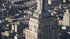 Zoom-out on Empire State Building. Shot in 2011. Stock Footage
