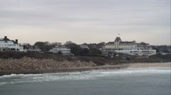 Past Ocean House in Watch Hill, Rhode Island. Shot in November 2011. Stock Footage