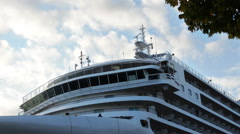 The bridge of the cruise ship - stock footage